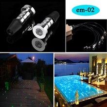 ใต้น้ำสระว่ายน้ำใยแก้วนำแสงแสงแสงที่มีระยะไกลRFควบคุมrgbเปลี่ยนสี