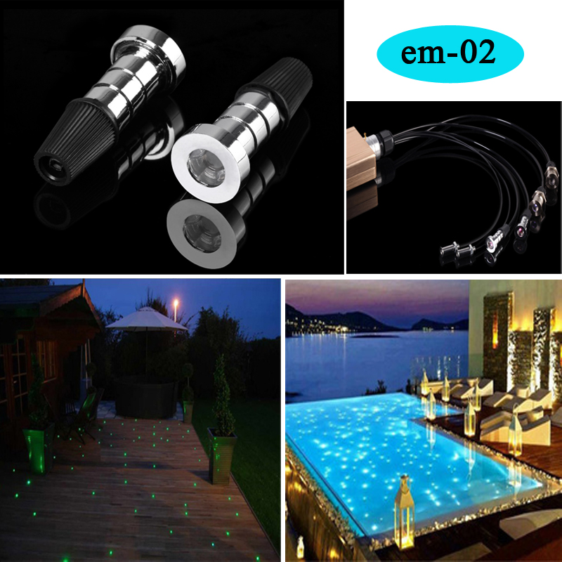 underwater swimming pool fiber optic lighting light with RF remote control rgb color change