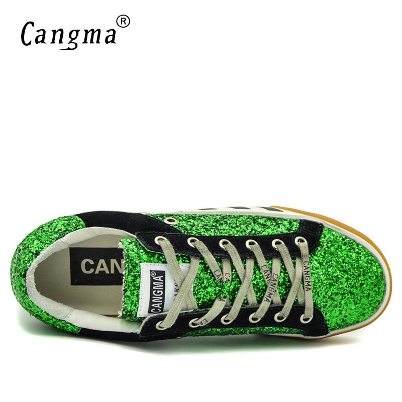 Paillettes Glitter Originale Dimensioni no Autunno Mujer Dell'annata Cangma Zapatos Appartamenti Sneakers Da Marca Nero Vintage Vintage Verde Di Donna Più Scarpe 7n4PwCdq