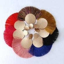 2018 Bohemian Handmade Statement Tassel Earrings Ladies Round Long Wedding Party Bride Jewelry Gifts