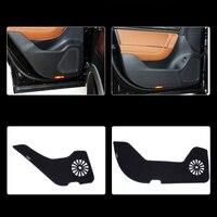 4pcs Fabric Door Protection Mats Anti kick Decorative Pads For VW Touareg 2011 2015