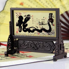 Chinese wind characteristic landscape small table screen desk furnishing articles of handicraftS888