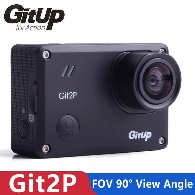 GitUp Git2P Action Camera WiFi 2K Sports DV Standard Edition 16MP 90 Degree Lens Novatek 96660 2160P Camcorder Cam