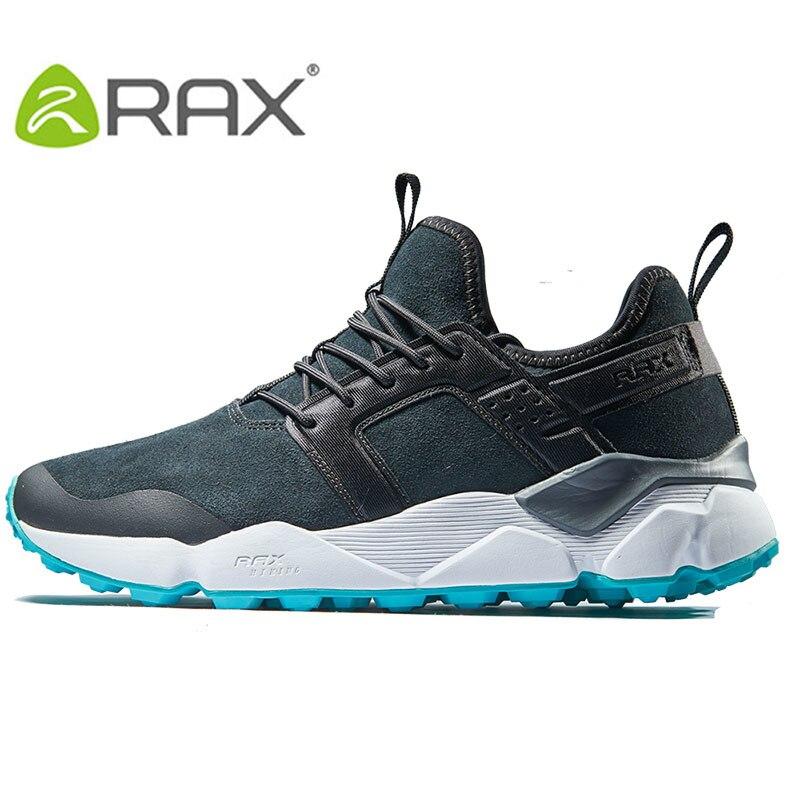 RAX Mens Hiking Shoes Winter Suede Leather Cushioning Mountain Shoes Men Antiskid Trekking Shoes Women Lightweight Walking Shoe
