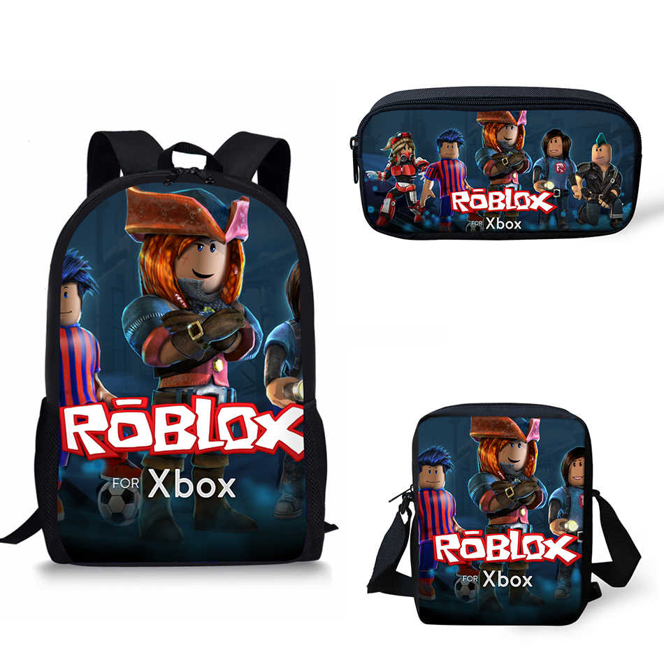 429a1feb4a94 Customized hot sale Children School Bags For Girls Roblox Print ...