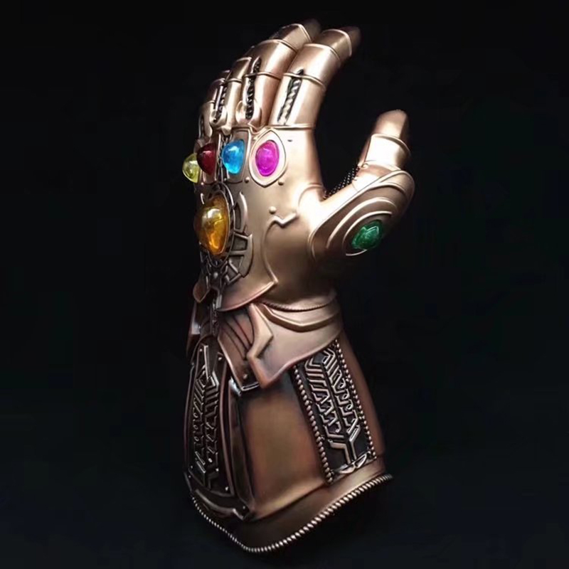 Spuer Villain Thanos Avengers Infinity War Gauntlet Action Figures Cosplay Superhero Iron Man Anime Avengers Thanos Glove #F marvel avengers infinity war thanos gauntlet action figures cosplay superhero iron man anime avengers thanos glove