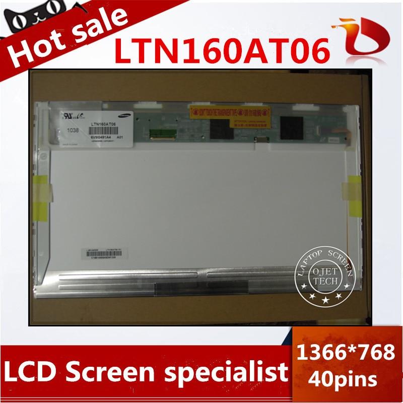 Free Shipping Original LTN160AT06 A01 B01 W01 H01 U01 U02 U03 HSD160PHW1 16.0 Laptop LCD Display Panel for ASUS N61VG N61J X66I