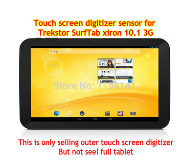 New touch screen for 10.1 inch Trekstor SurfTab xiron 10.1 3G Tablet touch panel digitizer glass replacement Free Shipping new 8 inch trekstor surftab ventos 8 0
