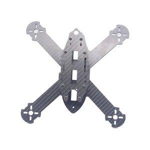 Image 4 - HSKRC TWE210 210mm dingil mesafesi 4mm kol 3K karbon Fiber X tipi FPV yarış çerçeve kiti RC Drone için multicopter DIY Motor yedek parçaları