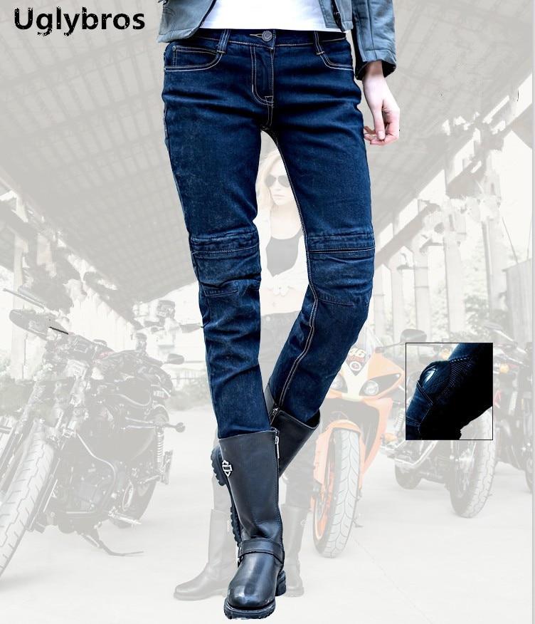 Motorcycle protection pants Uglybros Incision font b Jeans b font font b women b font moto