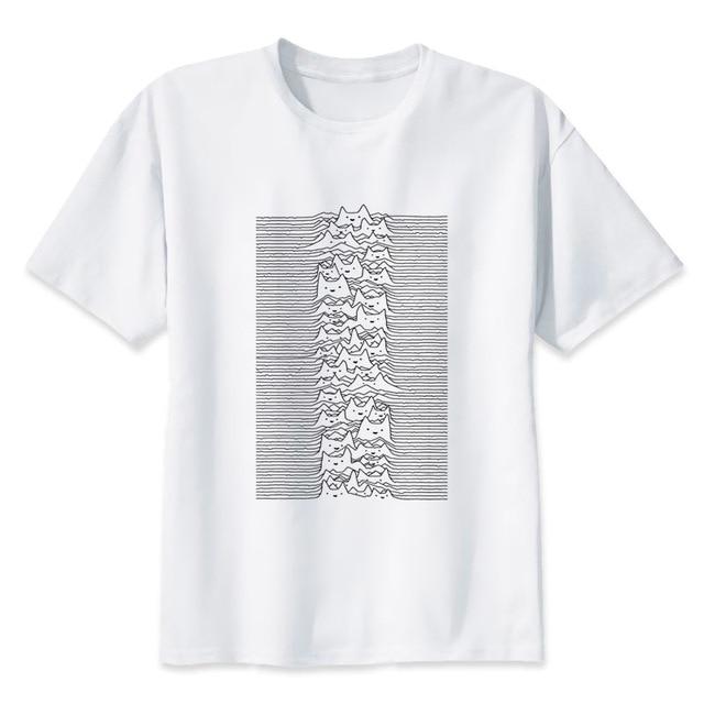 official photos 9649f df7c0 US $8.57 40% OFF|Joy division print lässige t shirt herren oansatz t shirts  mode für männer tops männer T shirt kurzarm männer MR4296 in Joy ...