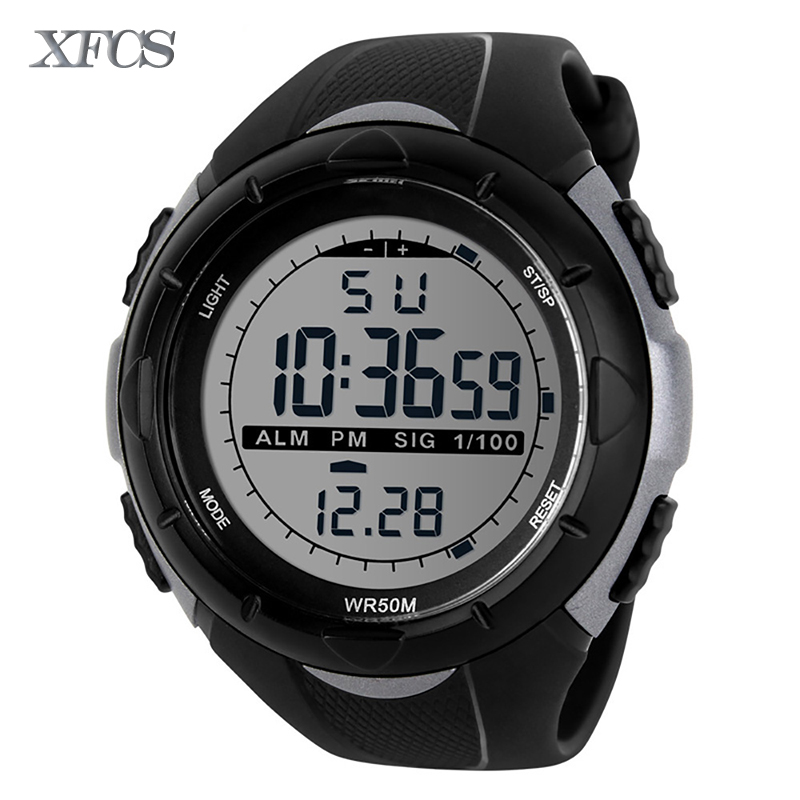 XFCS 2017 lady waterproof wrist digital watches for women digitais watch running ladies clock digitales shock outdoor cheap