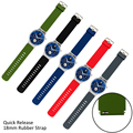 Rubber Strap 18mm Quick Release for Huawei Watch Asus ZenWatch 2 WI502Q 2015 Withings Activite/Steel/Pop Replacement WatchBand
