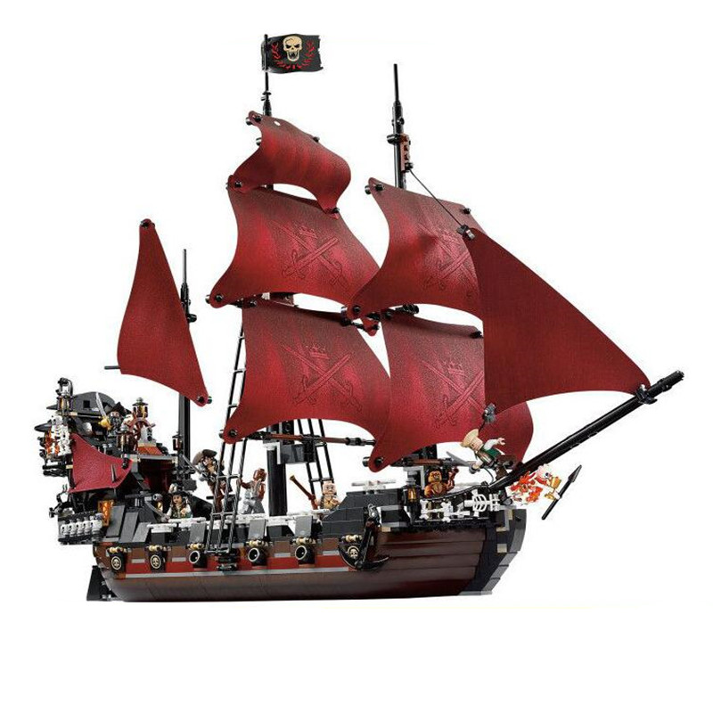 1151Pcs Caribbean Queen Anne's Reveage Model Pirates Building Blocks Bricks Children Toys Gift Compatible With LegoINGlys City free shipping new lepin 16009 1151pcs queen anne s revenge building blocks set bricks legoinglys 4195 for children diy gift