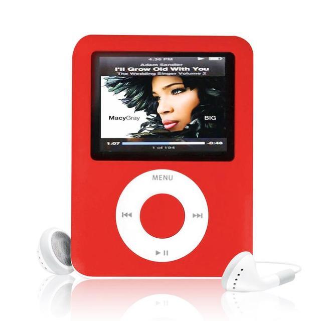 Precio de fábrica USB Digital MP3 MP4 Jugador Delgado 8 GB 1.8 pulgadas Multimedia LCD Videojuego de la Película de Radio FM $ number ª Generación MP4 Player caliente