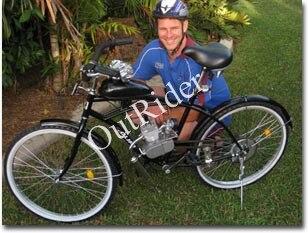 Livraison gratuite! 80cc 2 Temps Cycle De Bicyclette De Vélo Motorisé Moteur Kit pour Moteur Gaz Argent 2 Ans de Garantie de Fabrication