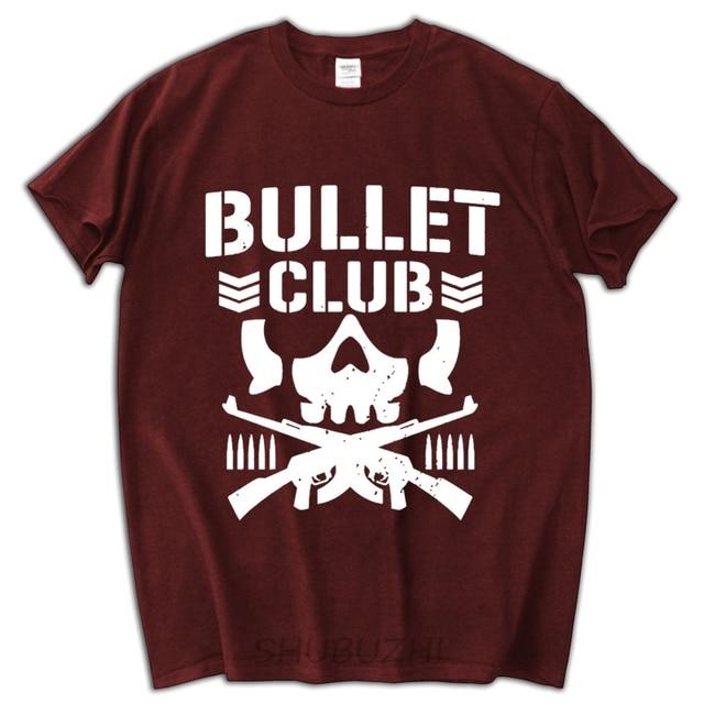 e86c9adb56 male funny present Fashion Bullet Club New Japan Pro Wrestling T Shirt  Casual Short Sleeve Shirt