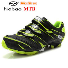 TIEBAO Bicycle Shoes Mountain zapatillas deportivas mujer Breathable Mesh Upper MTB Bike Shoes 2018 Straps Closure Cycling Shoes