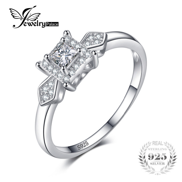 JewelryPalace Exquisite Princess Cut Cubic Zirconia Wedding Anniversary Woman Fa