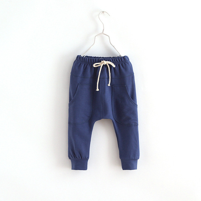 MRJMSL Hot selling size90~130 2017 solid  children pants for boys trousers girls harem pants  candy kids child 5 colors