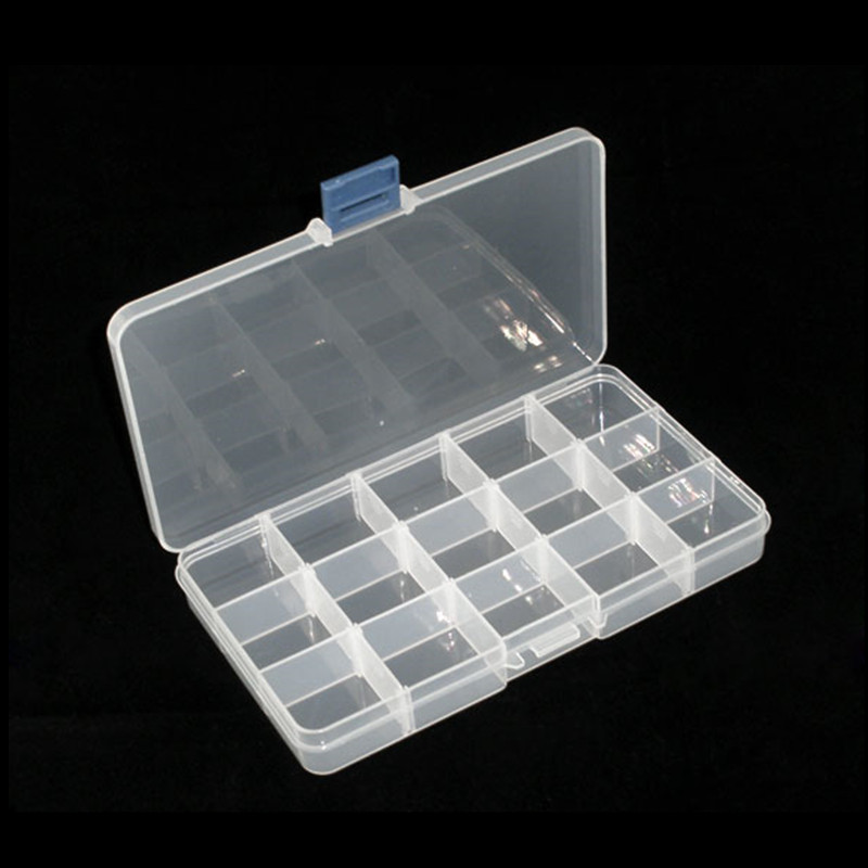 Plastic Storage Box Beads Rhinestones Display Carrying
