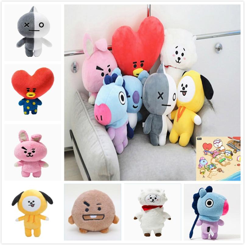 Kpop Bangtan Boys Maskottchen BT21 BTS Weiche Nette Plüsch Spielzeug Gefüllte Puppe Van JUNG KOOK Jimin TATA COOKY CHIMMY SHOOKY MANG KOYA