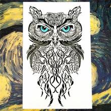 Nu-TATY Wise Owl two Temporary Tattoo Body Art Flash Tattoo Stickers 12*20cm Waterproof Fake Tatoo Car Styling Wall Sticker