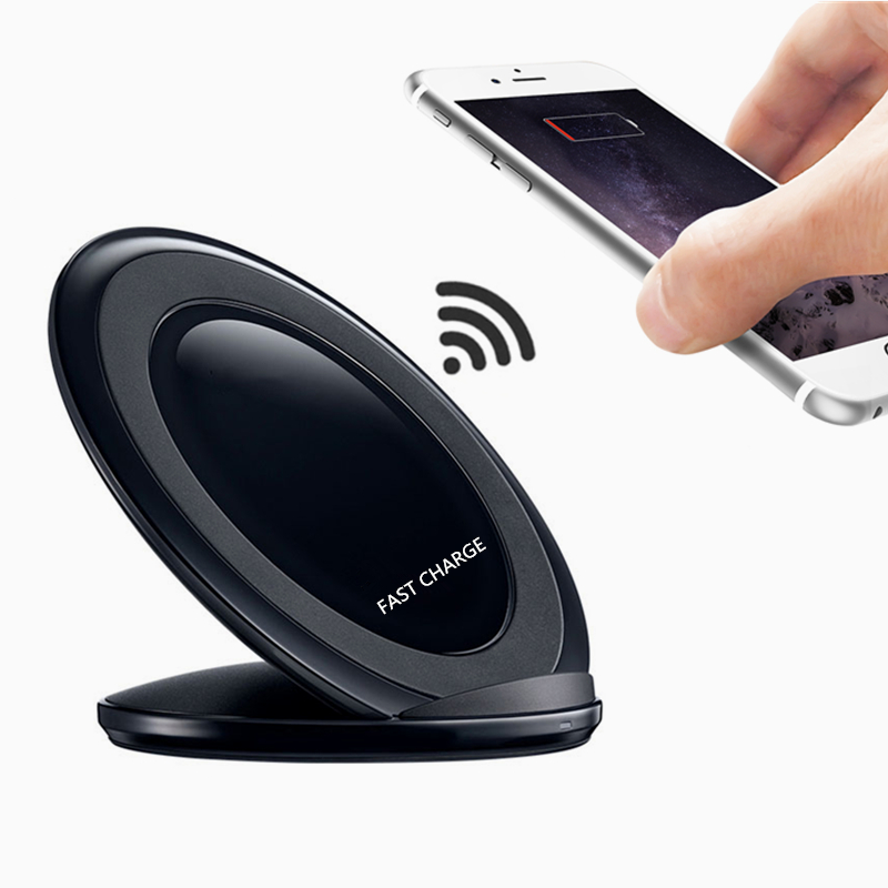 Fast Charge Qi Wireless Charger Dock Quick Mobile Phone Charging Pad for Samsung Galaxy S7 S6 edge Note 4 5 iPhone 5 6 6S 7 Plus