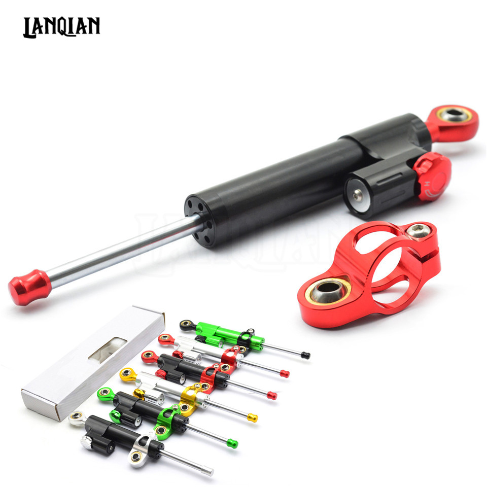Universal Motorcycle Damper Steering Stabilizer Moto Linear Safety Control For APRILIA Dorsoduro 750 120 Mana 850 GT Tuono V4R 1pair round front brake discs rotors for aprilia dorsoduro 750 1200 factory 08 16 sl shiver 750 gt 07 16 mana 850 gt abs 07 16