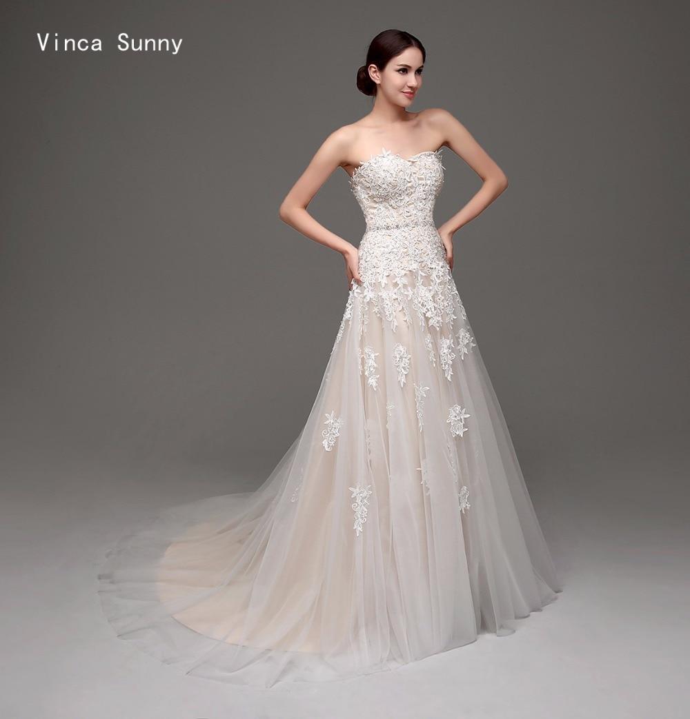 Vinca sunny vestidos de novia 2018 Champagne Wedding Dresses Vestido ...