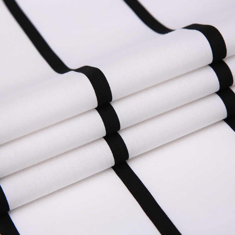 100% Cotone Confortevole Nero Della Banda di Colore Bianco Degli Uomini di Affari di Camicie eleganti Button-down Collare Slim Fit Smart Casual Uomini Camicette