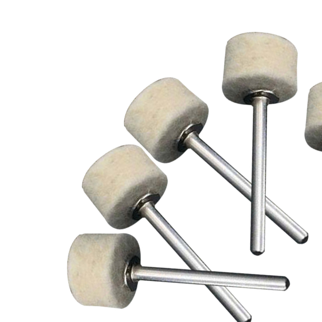 50Pcs 13mm Wool Felt Polishing Buffing Wheel La Rueda De Rueda De Moler+2Pcs 3.2 Mm Shanks For Rotary Tool Accessories