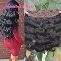 8A cabelo virgem Peruano da onda Do Corpo Grampo em extensões do cabelo 100% não transformados cabelo humano One piece 5 Clipes 100g cabelo extensões