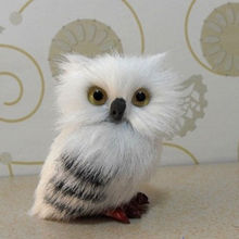 Realistic Cute Cartoon Hedwig Owl Toy Mini Simulation Model Christmas Decor