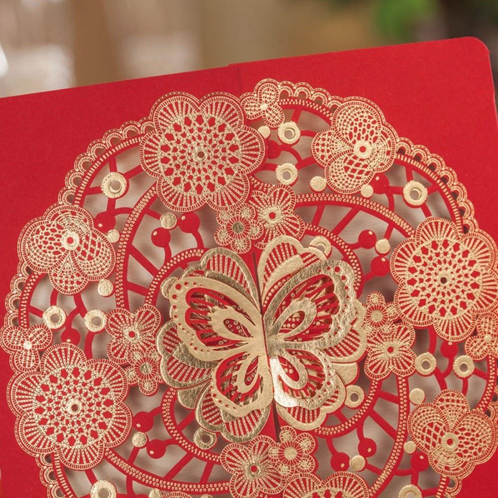 Laser Cut Wedding Invitations Sets Convite Casamento Engagement ...