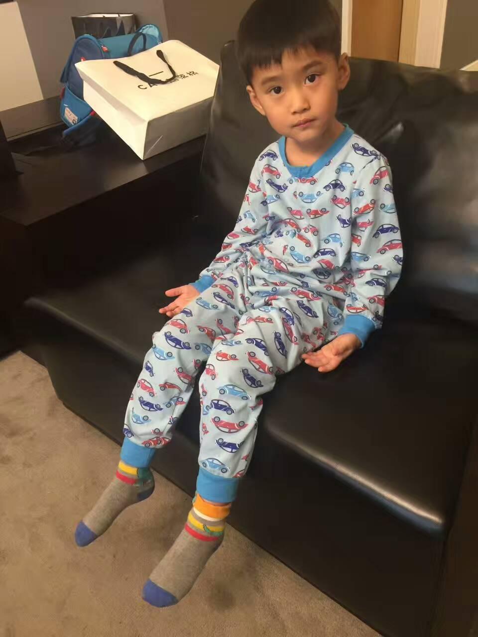 Envío Gratis purekids niños ropa de dormir onepiece manta dormir algodón niños ropa interior general niños pijamas delgados mono