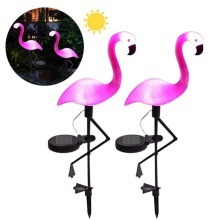цены Flamingo Solar Garden Light Solar Lamp Garden Lights Outdoor Waterproof Led Solar Light Outdoors Landscape Patio Lawn Park Decor