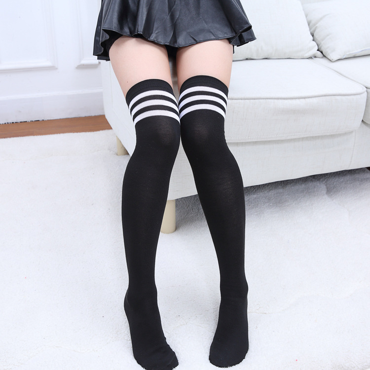 New 1pair Women Girls Stockings Black White Knee Socks School Student Stockings In Boys Costume Accessories From Novelty Special Use On Aliexpress Com