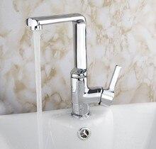 Ярко Ванная комната бассейна и Кухня поворотный 360 раковина смесителя хром латунь кран JN8387