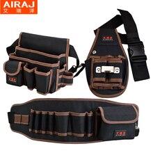 AIRAJ Hardware cintura bolsa de almacenamiento con cinturón electricista  profesional militar de doble capa de tela 6b550b4bd213