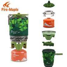 Fireplat X2 կոմպակտ մի կտոր ճամբարային վառարան երմափոխանակիչ Pot ճամբարային սարքավորումներ հավաքածու Flash Personal Cooking System