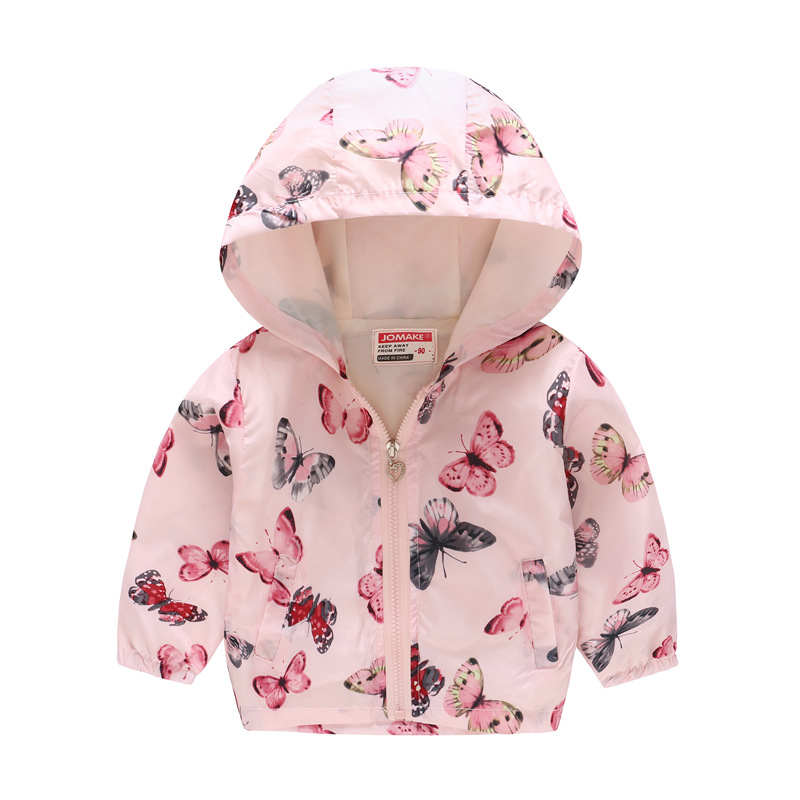 Rose Flower Baby Girl Jackets Children Clothes Tops Girls Outwear Hoodies Coat Zipper Fashion Outfit Kid Blouse 2 3 4 5 6 7 Year in Jackets Coats from Mother Kids