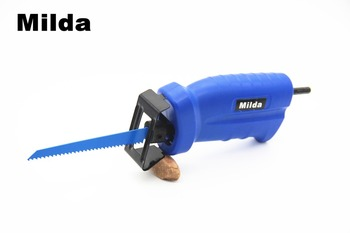 Milda 2018 new Reciprocating saw Metal Cutting wood Cutting Tool electric drill attachment with 3 blades power tool accessories