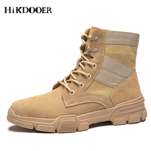 High Quality Men's Outdoor Boots Desert Army Military Tactical Boots Combat Men Boots Fashion Style Casual Men Martin Shoes tojamo men army military boots high quality motorcycle boots winter desert hunt male combat boots man botas martin men shoes
