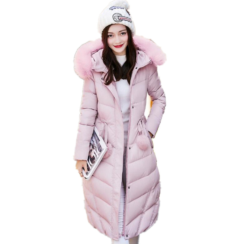 Nouveau manteau d'hiver femmes Veste Longue Parkas Femme Vêtements veste solid Slim Femmes de vestes d'hiver Et Manteaux Casacos Feminino k162