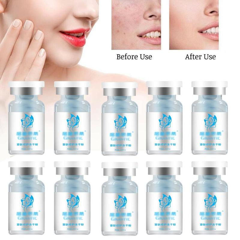 10pcs Oligopeptide Stock Solution Epidermal Growth Factor EGF Freeze-dried Powder Soluble Enzyme For Moisturizing Skin Repair