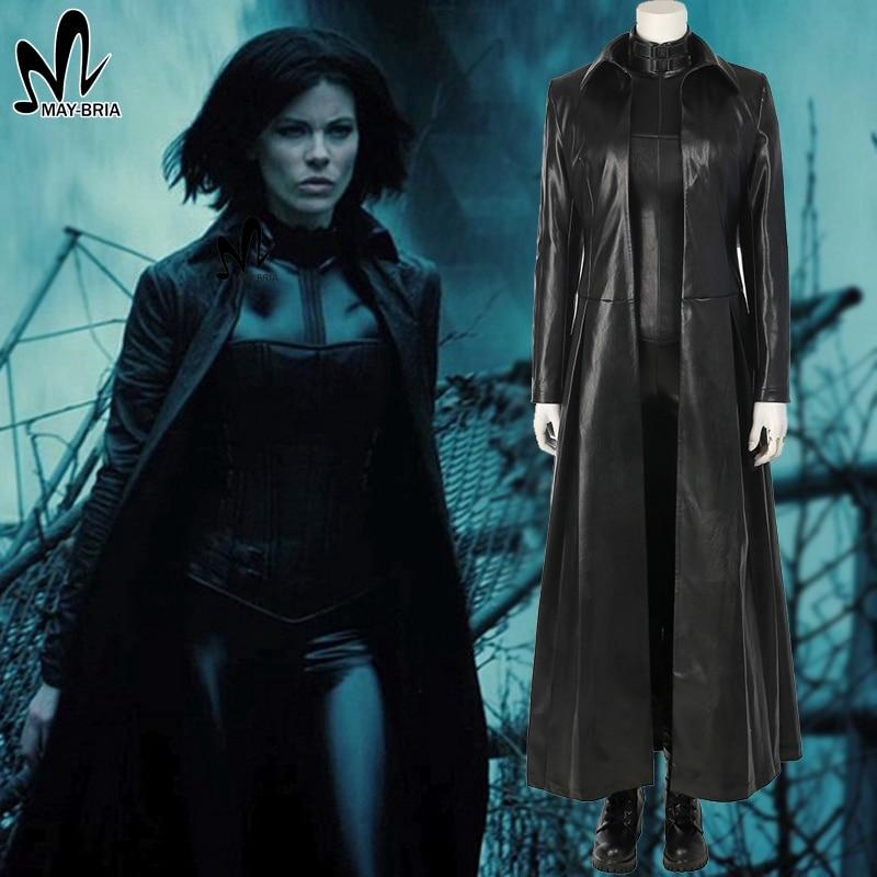 Underworld: Blood Wars Selene Cosplay costume Halloween costumes for adult women Vampire Selena jumpsuit sexy leather costumes