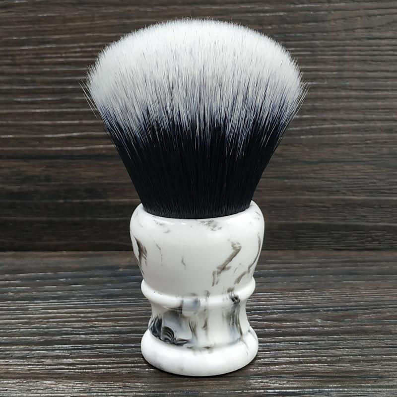 Dscosmetic 30mm grande smoking nó sintético cabelo escova de barbear resina punho feito à mãoPincel de barba   -