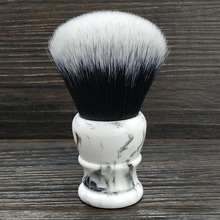 Dscosmetic brocha de afeitar para pelo sintético, nudo de esmoquin grande, 30mm, mango de resina, hecho a mano