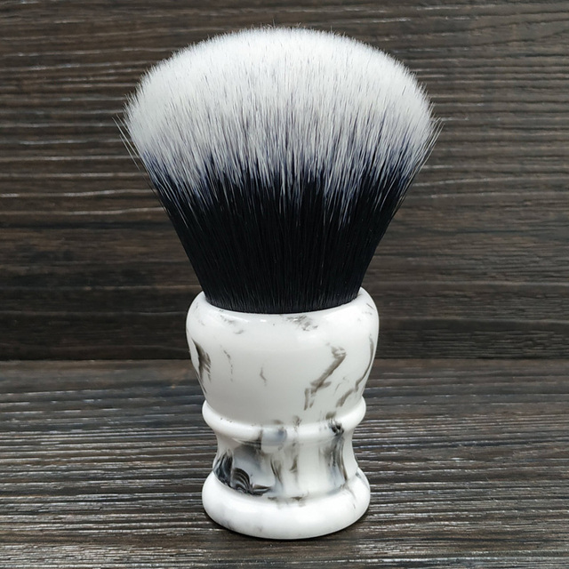 dscosmetic 30mm big Tuxedo Knot synthetic hair shaving brush resin handle by hand made